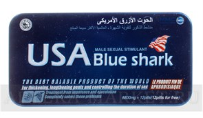 Usa blue shark (акулий хрящ) металл (12 табл)